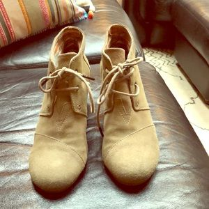 Toms booties. Gently worn in great condition.